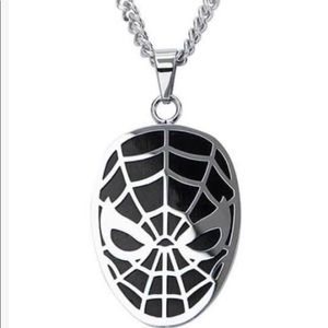 Men's spiderman stainless steel necklace 22 inch